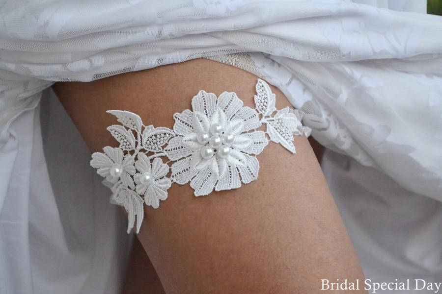 Wedding Garter Prom Bridal Set Vintage Toss White