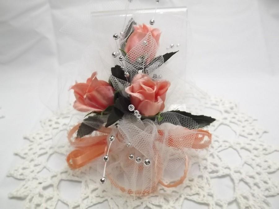 Boho peach silk flower wrist corsage bridal party roses wedding boho peach silk flower wrist corsage bridal party roses wedding accessory for bridesmaidmothergrandmother or graduation prom dance mightylinksfo