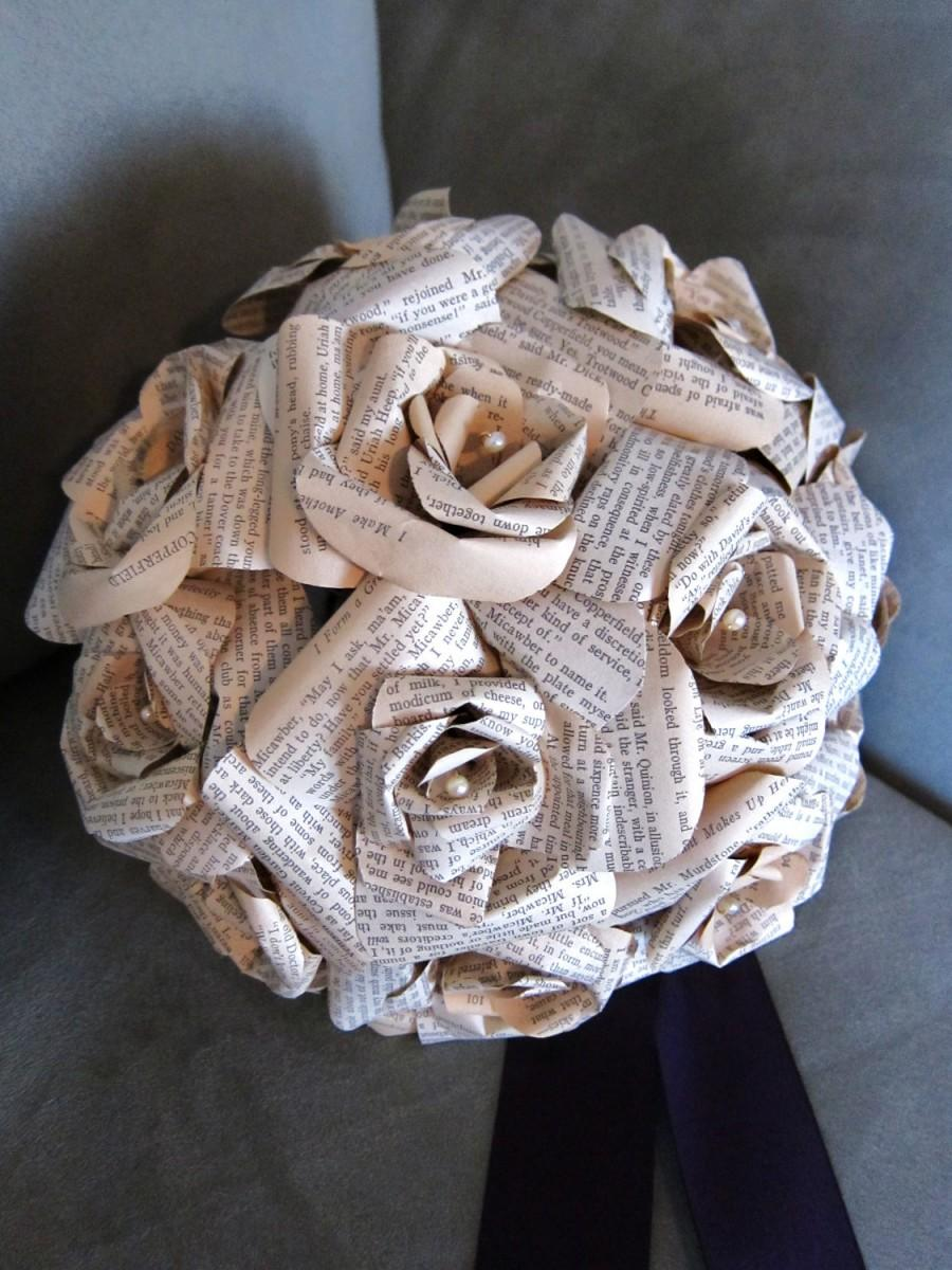 Свадьба - Personalized Bridal Bouquet - Basic with Pearls