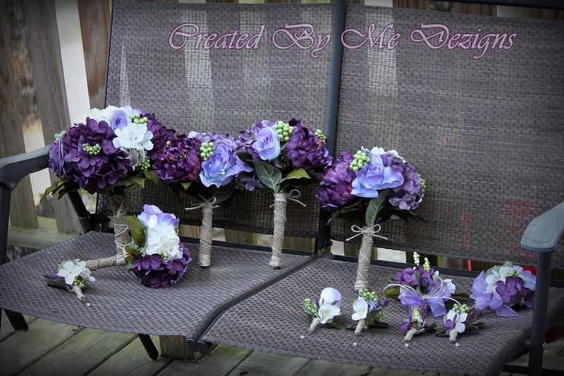 Wedding - Wedding Flower Package 14 pieces custom made to order