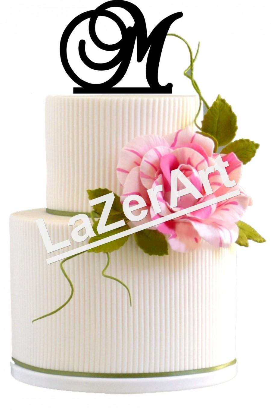 Mariage - Wedding Cake Topper Initial