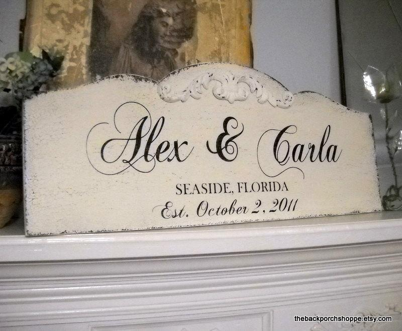 Mariage - WEDDING SIGN, Family Name Sign, Bride and Groom Signs, Mr. and Mrs. Signs, Large Wedding Signs, 12 x 30