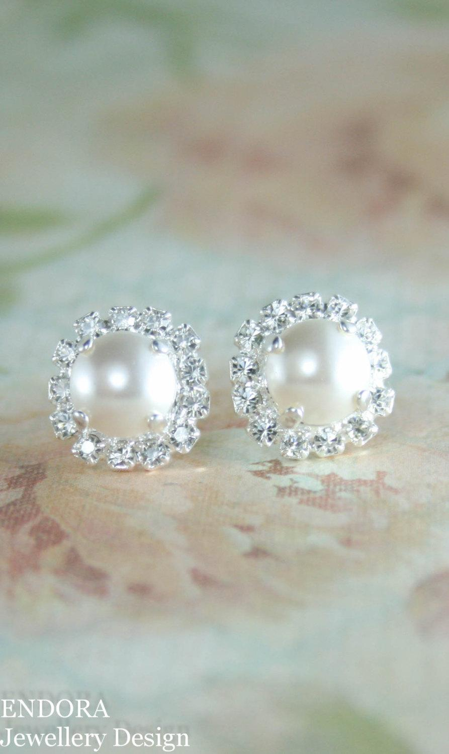 earrings pearl yg akoya white stud