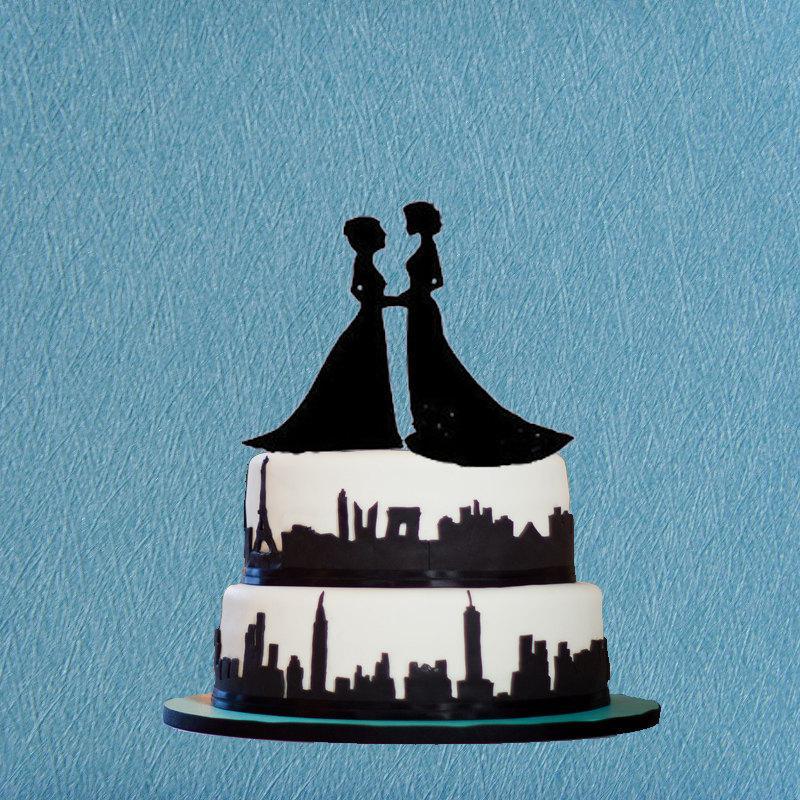 Mariage - Lesbian Cake Topper,Same Sex Cake Topper For Wedding,Unique Same Sex Cake Topper,Girls Cake Topper,Modern Cake Topper Decorations