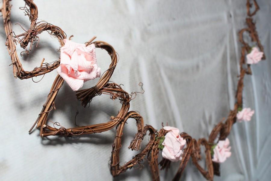 Mariage - Rustic Wedding Decor, Twig Vine Garland, 5ft