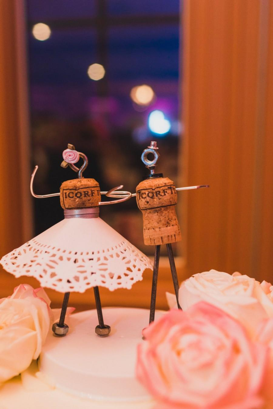 Wedding - Champagne Cork Cake Topper (Weddings, Engagement Parties, Bridal Showers, Rehearsal Dinners, etc!)