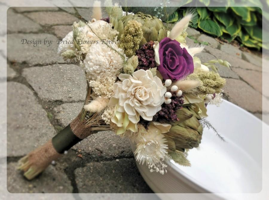 Purple Woodland Moss Collection - Purple Bridal Bouquet - Natural ...