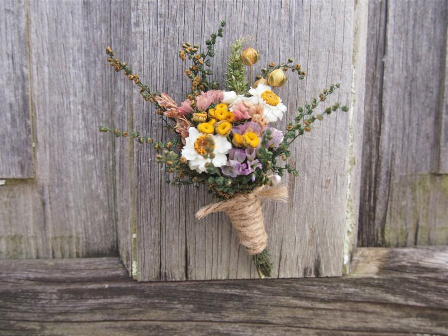 Mariage - Country CALICO Wedding Boutonniere - Perfect for your Country Wedding