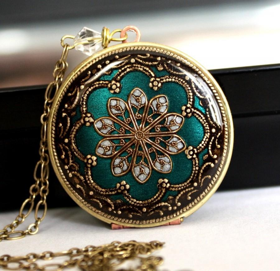 زفاف - Aqua/ Locket/ Gift/ For/ Her/ Valentines Day Gift/ Women's/ Locket Necklace/ Gift/ For/ Girlfriend/ V-Day Gift/ Romantic/ Gift/ Wedding/ Gif