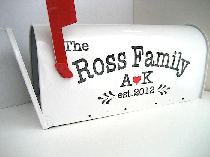 Mariage - Custom Wedding Card Mailbox - Wedding Card Box - Monogrammed Letter Box -  Wedding Reception Card Box