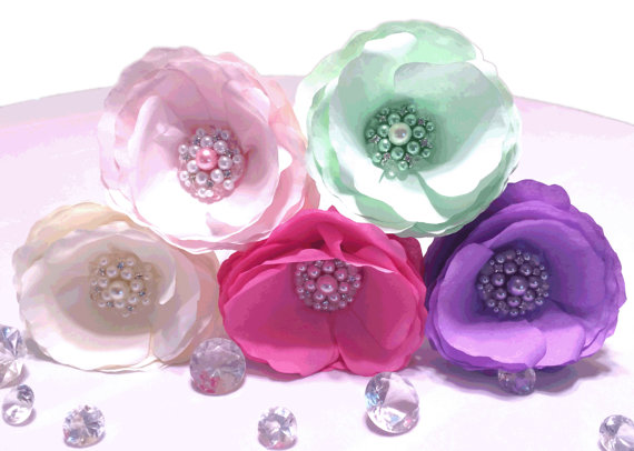 Wedding - Paper Brooch Peonies, Peony cake flowers, Pearl brooch paper flowers, Home decor flowers, Wedding Flowers, Paper flower decorations