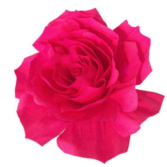 Giant paper flower crepe paper rose baby shower decor giant rose giant paper flower crepe paper rose baby shower decor giant rose kids room decor huge fake flowers floral decor crepe paper flowers mightylinksfo