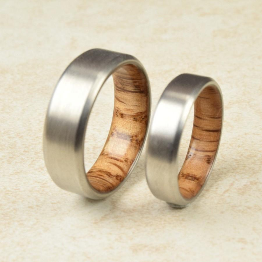 band men exotic gift wood engagement rings wedding oak media ring titanium red women s lined