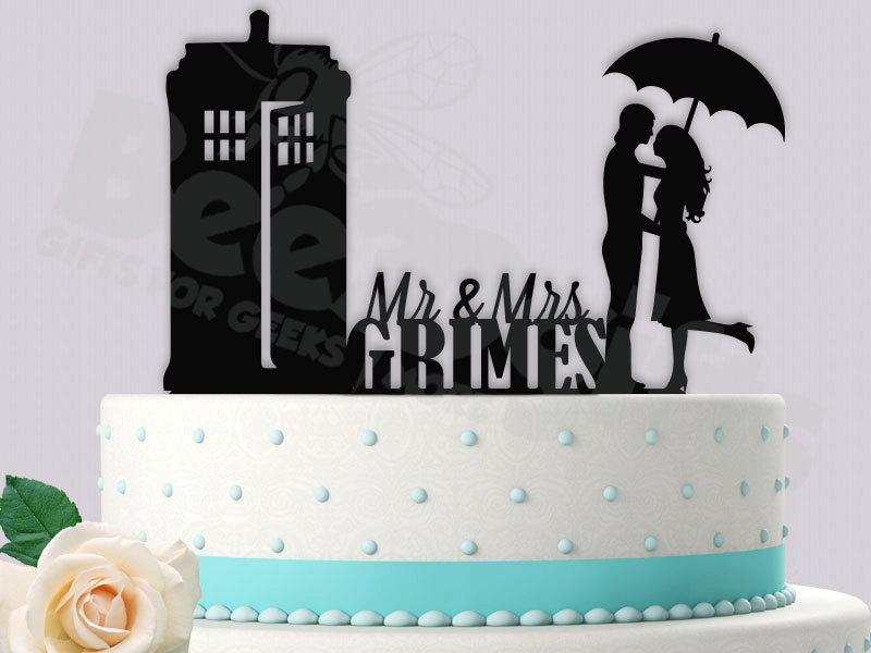 Dr Who Cake Topper Its Raining Tardis Personalized 2440415