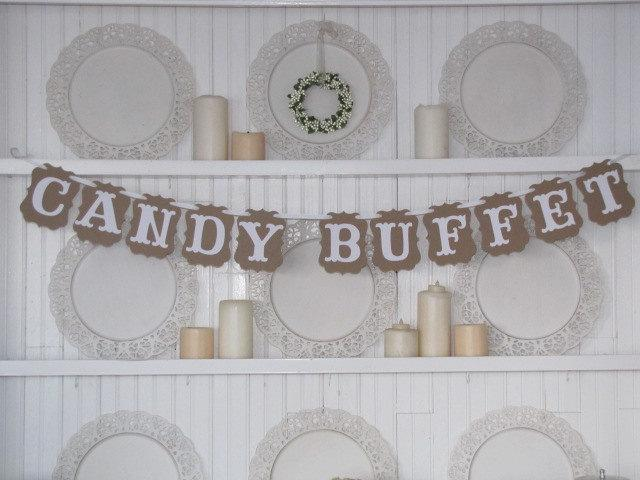 Mariage - CANDY BUFFET Banner for Weddings, Receptions, Parties and Wedding Photos