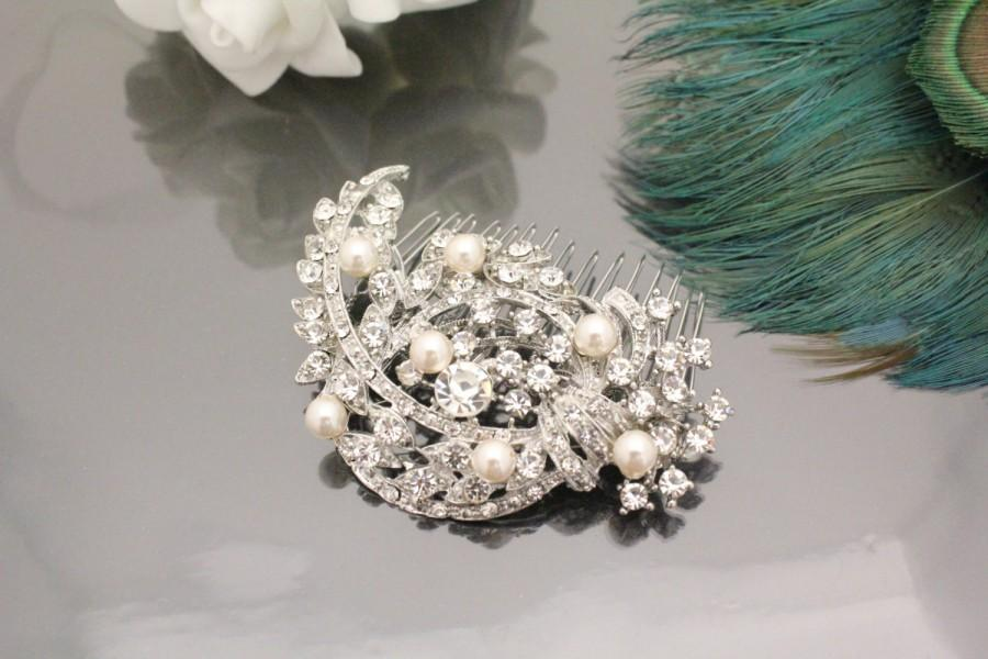 Hochzeit - Wedding hair comb pearl Bridal hair comb vintage Wedding headpiece Bridal hair accessory Bridal headpiece Wedding hair piece Bridal haircomb