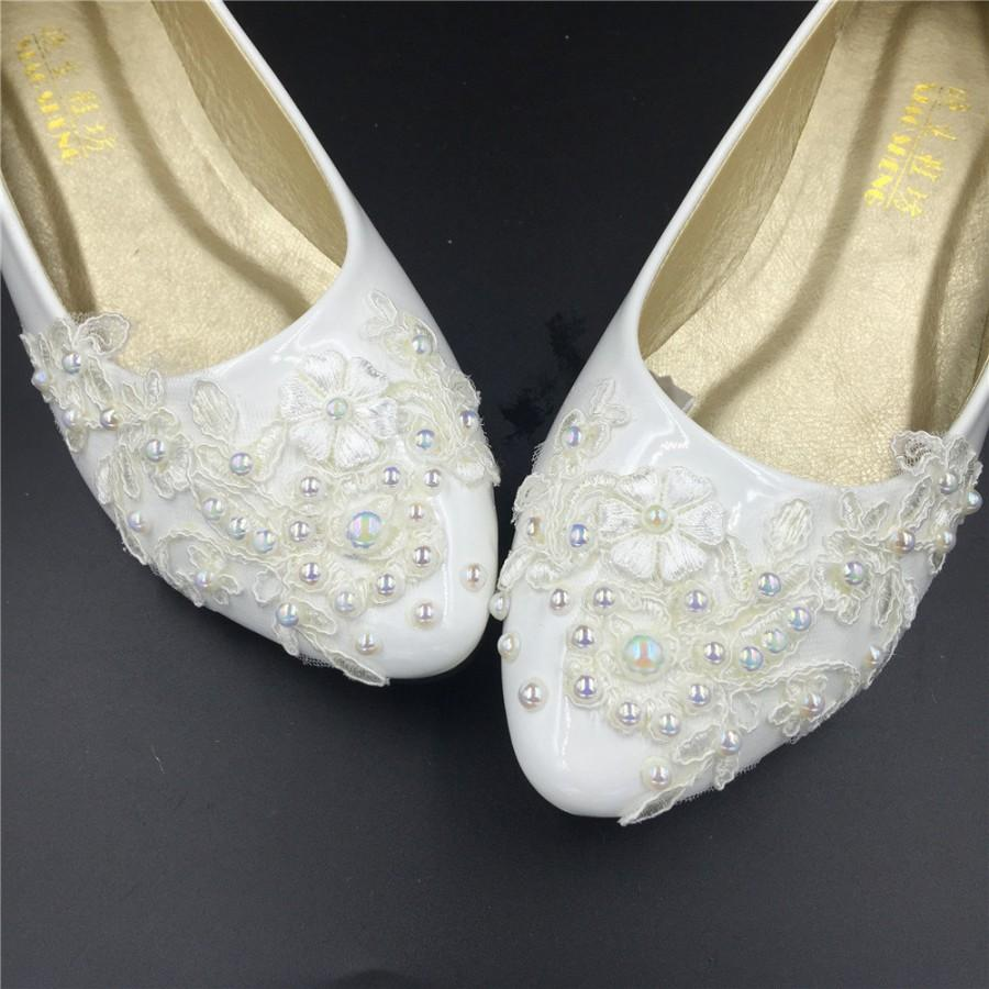 Flat Wedding ShoesLace Bridal ShoesIvory FlatsCream ShoesOff White Shoes Size 4 5 6 7 8 9 10 11 12 4125