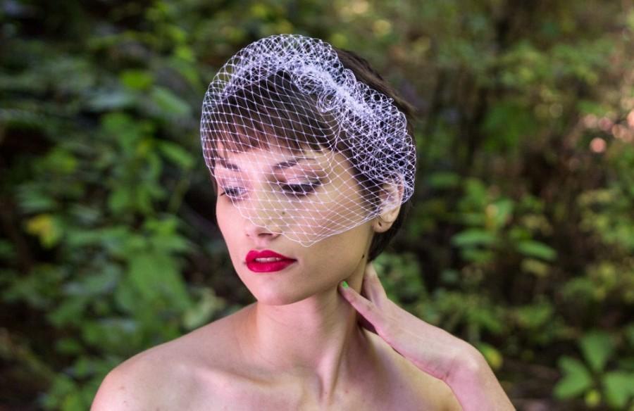 Hochzeit - Wedge Veil Wedding Veil Russian Net Birdcage Veil