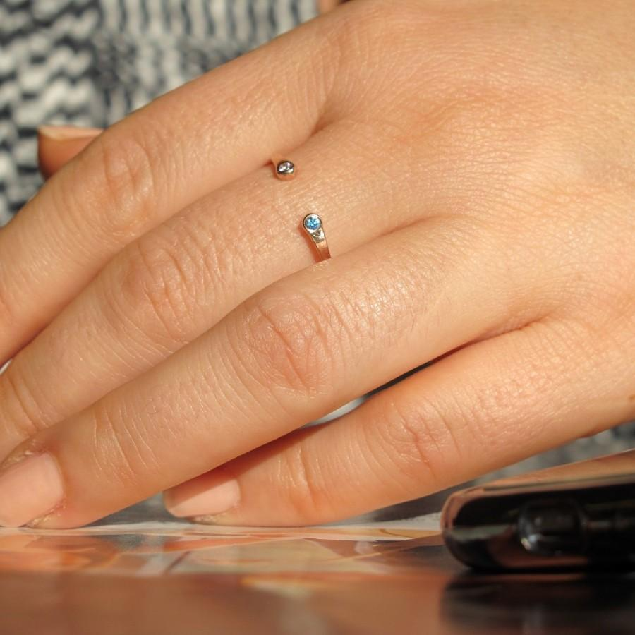 Gold Engagement Ring / Promise Ring / Tiny Gold Ring / Rose Gold ...