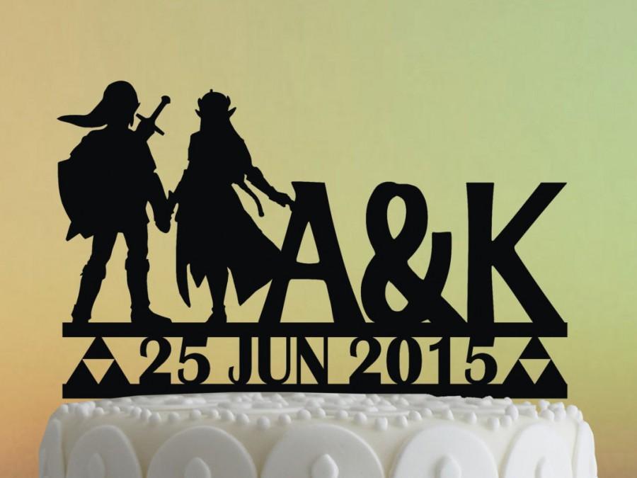 Свадьба - Cake Topper  - Link and Zelda Wedding Cake Topper - Link and Zelda - Acrylic Cake Topper