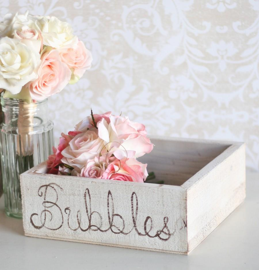 Свадьба - Wedding Bubbles Holder Rustic Tray (item P10151)