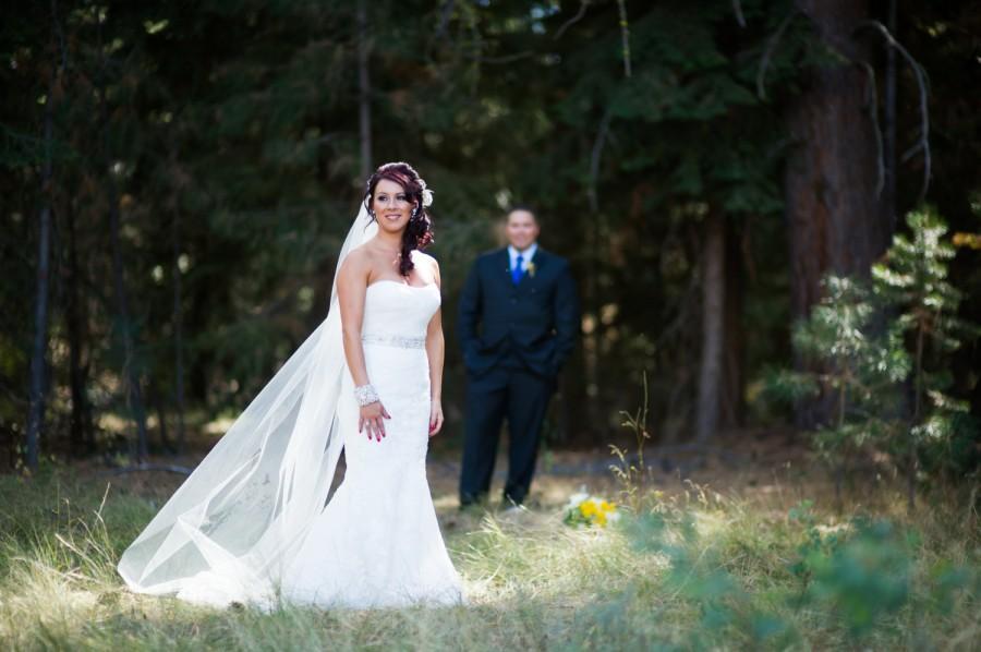 زفاف - Wedding Veil Chapel Length White Illusion Tulle