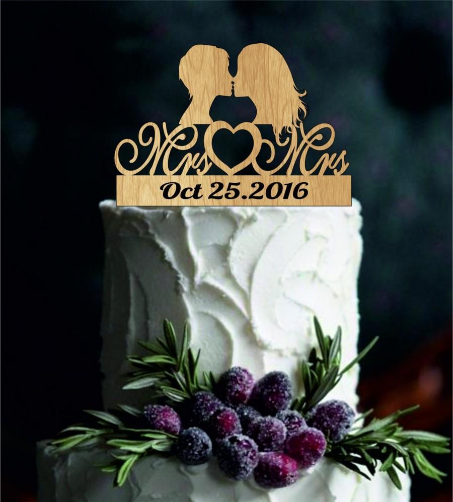 Same Sex Cake Topperlesbian Cake TopperMrs And Mrs Wedding Cake