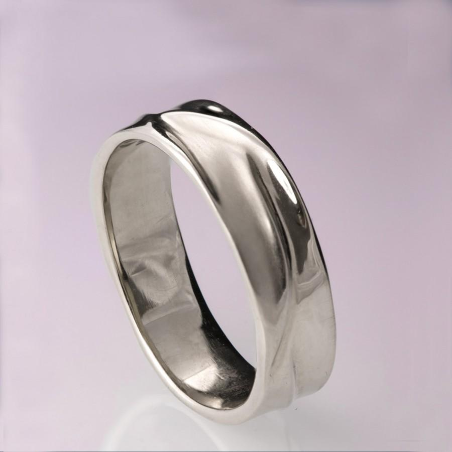Waves No.5   Platinum Ring , Platinum Wedding Ring , Platinum Wedding Band, Menu0027s  Wedding Band, Mens Ring