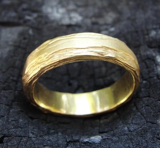 Wedding Ring Band Gold 18k Solid Handmade