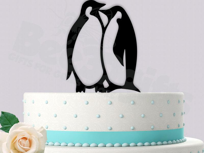 Decor - Penguins Cake Topper #2440897 - Weddbook