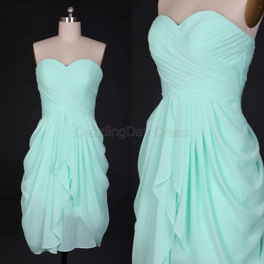 Mint bridesmaid dresses chiffon simple prom dresses wedding dress mint bridesmaid dresses chiffon simple prom dresses wedding dress short evening dress party dress ombrellifo Gallery