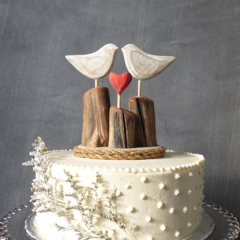 Wooden Wedding Cake Toppers Nz Rustic Beach Topper Wood Love Birds