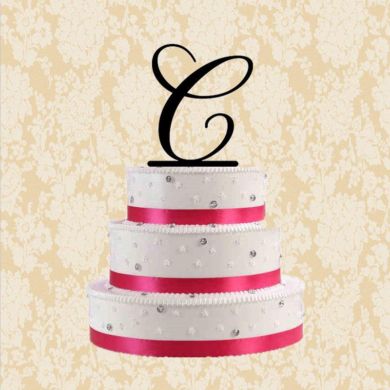 Letter C Cake Topper-custom Letter Cake Topper For Wedding ...