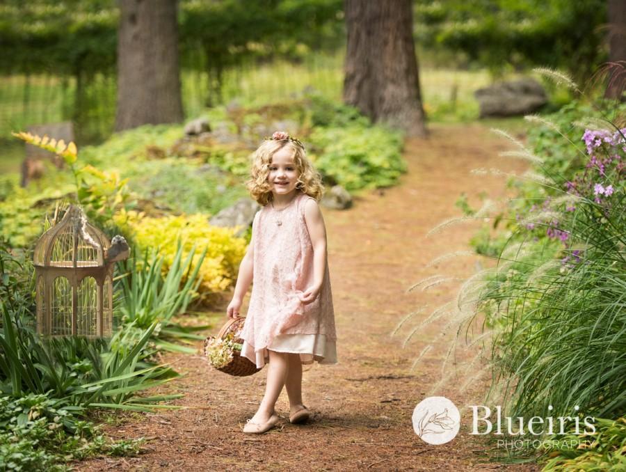 Düğün - Champgne Flower Girl Dress, Lace Dress, Pink Champagne Dress, Birthday Dress, Baby Infant Toddler Dress, Bridesmaid Dress, Sleeveless Dress