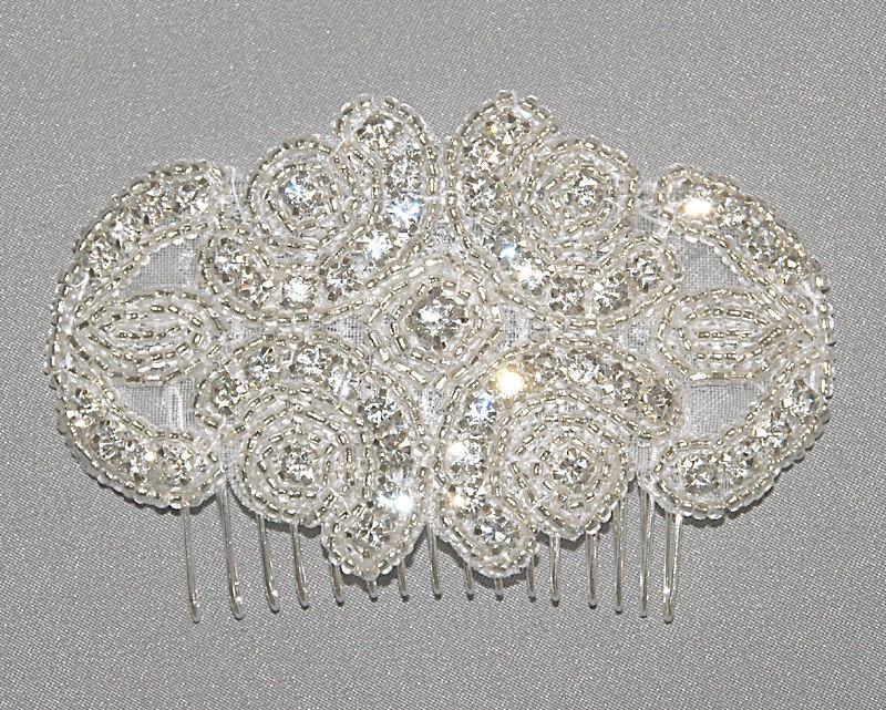 Hochzeit - Rhinestone Bridal Hair Comb, Rhinestone Comb, Wedding Hairpiece, Bridal Comb, Bridal Enchantment