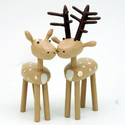 Свадьба - Bride and Groom Deer for your Wedding Cake