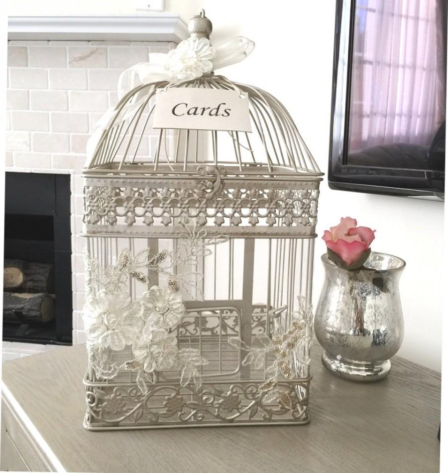 Birdcage Card Holder Elegant Money Box Wedding Birdcage Card – Wedding Money Card Box
