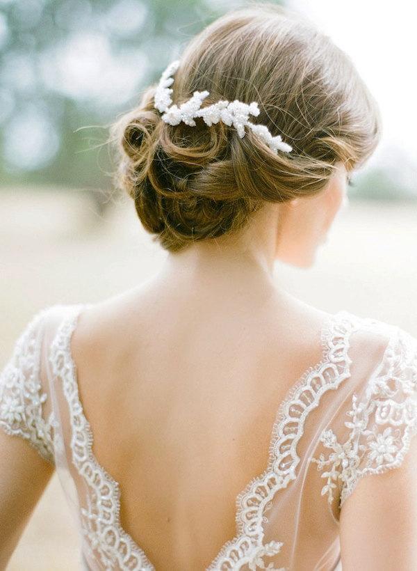Свадьба - CAMILLIA beaded wedding headpiece