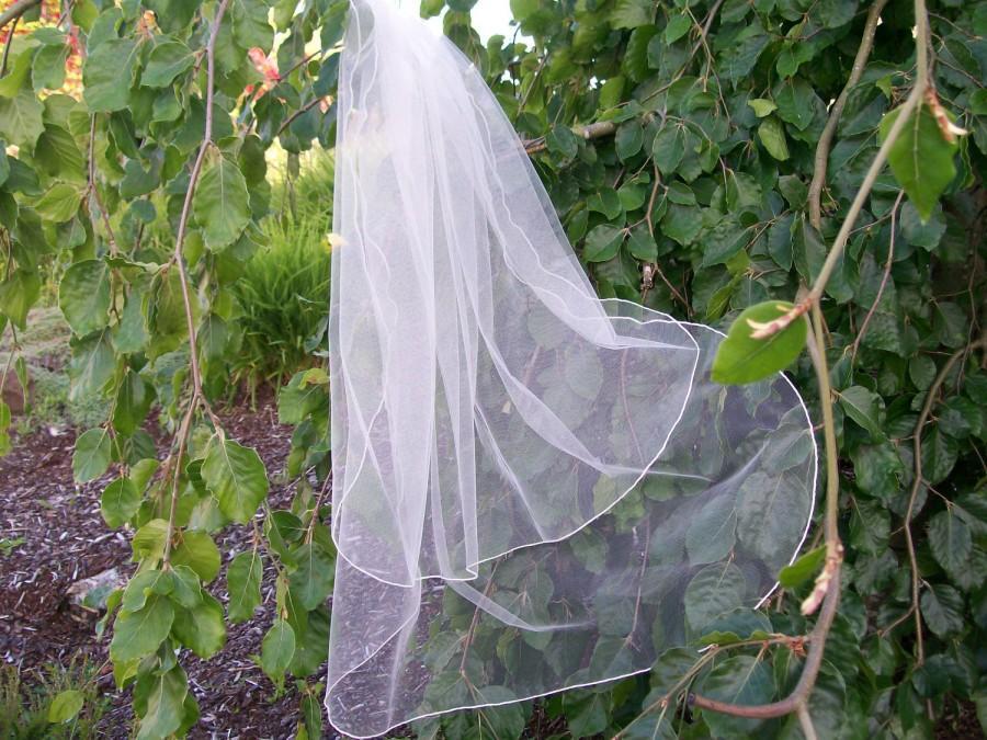 """Hochzeit - Ivory 2 Layer  Wedding Veil - 31"""""""