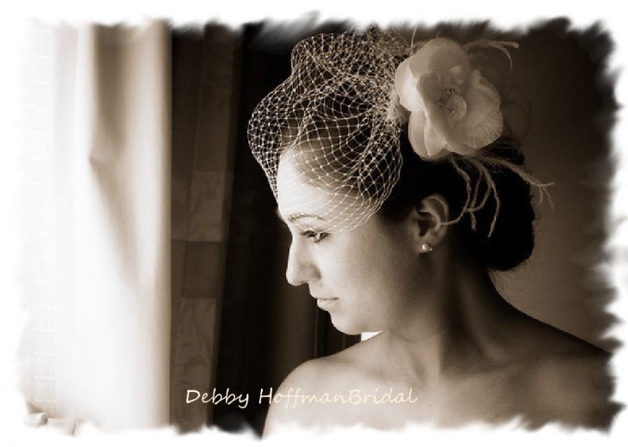 Свадьба - Wedding Veil, Bridal Veil, Birdcage Veil, Blusher Veil, Birdcage Blusher Wedding Veil, Small Bird Cage Blusher Bridal Veil, No. 421,