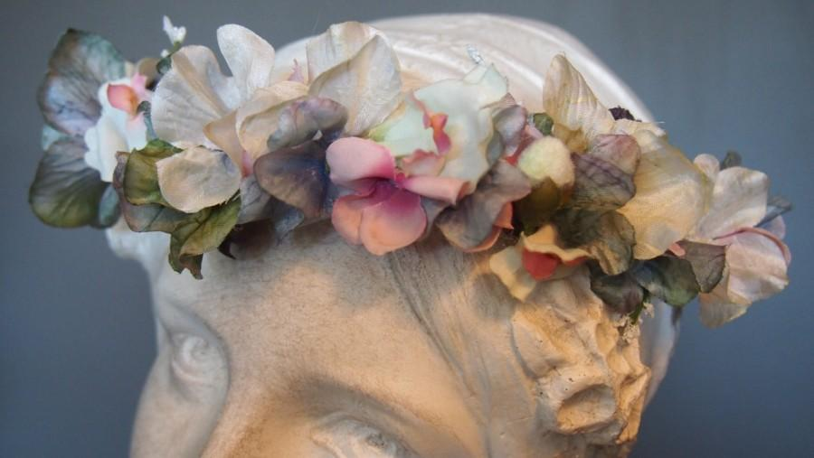 Mariage - LOVERS LANE Handcrafted Hair Wreath, Summer Flower Head Crown, Floral Tiara. Great for a Bride, bridesmaid, flower girl, present, baby