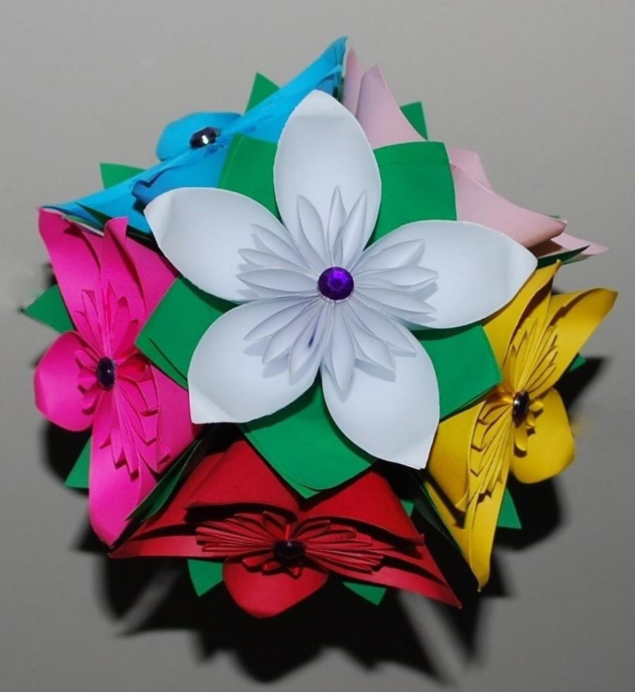 Origami Flower Bouquet Wedding Flower Bouquet Bridal Flower Bouque