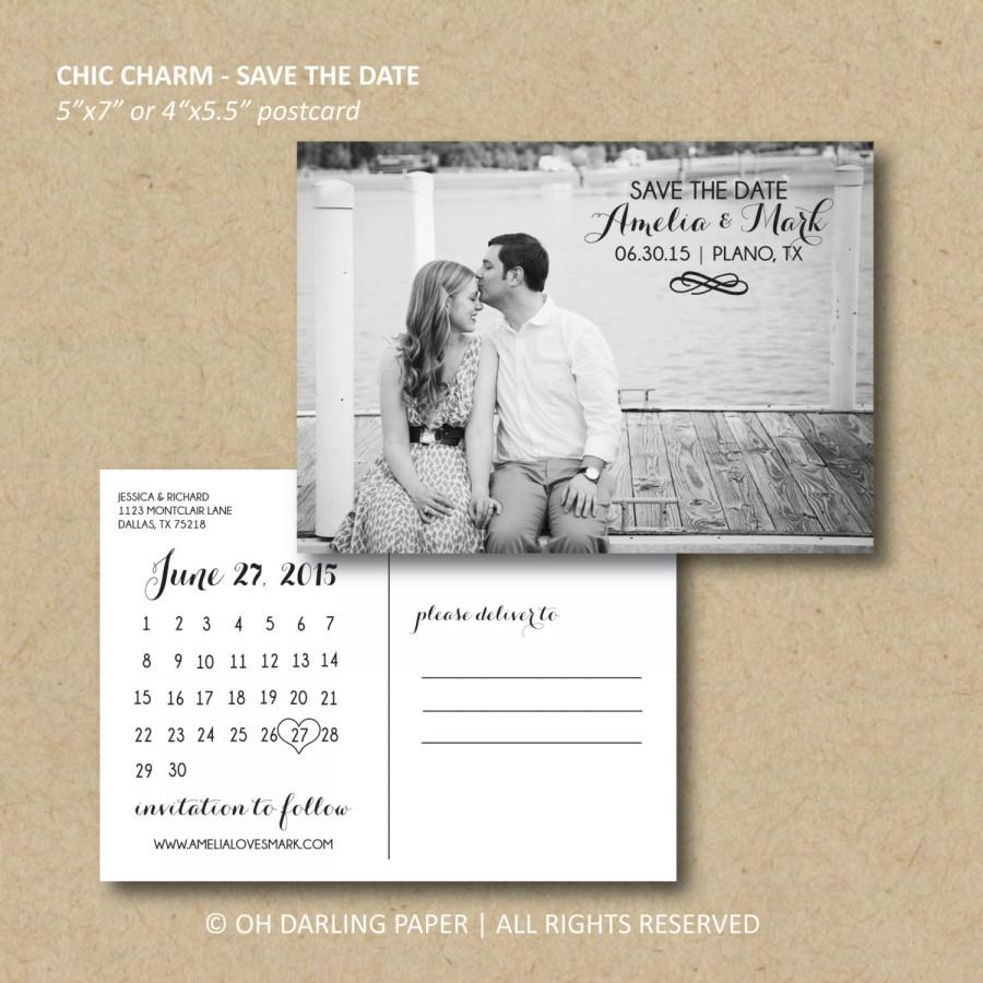 calendar save the date postcard - Romeo.landinez.co