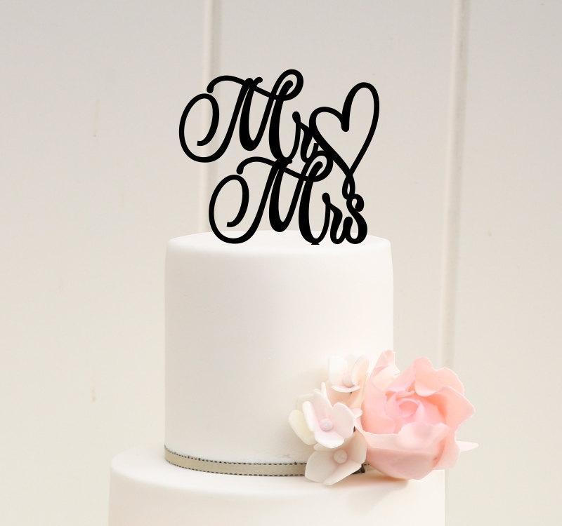 Свадьба - Original Wedding Cake Topper Mr and Mrs Topper Heart Design - 0039