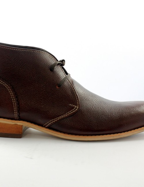 """Свадьба - MENS """"VIRCHI"""" BROWN LEATHER ANKLE SHOES"""