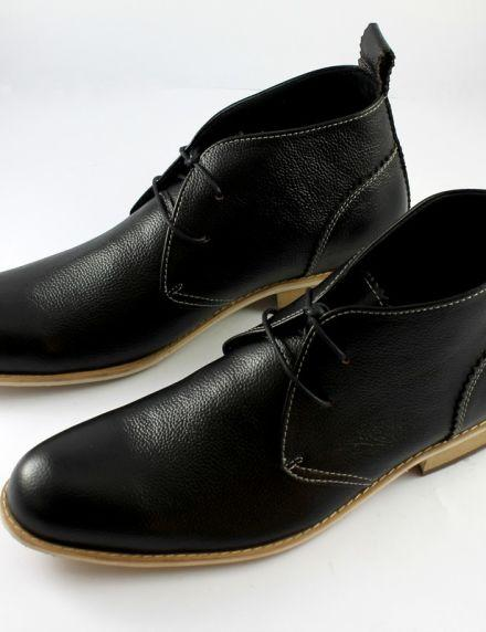 """Mariage - MENS BLACK """"OSTARIO"""" LEATHER ANKLE SHOES"""