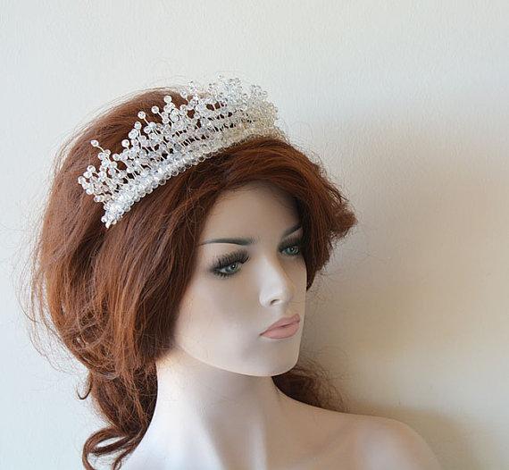 Mariage - Bridal Tiara, Wedding Tiaras, Wedding Hair Accessories, Bridal Headpiece, Bridal Hair Accessory, Crystal Tiara