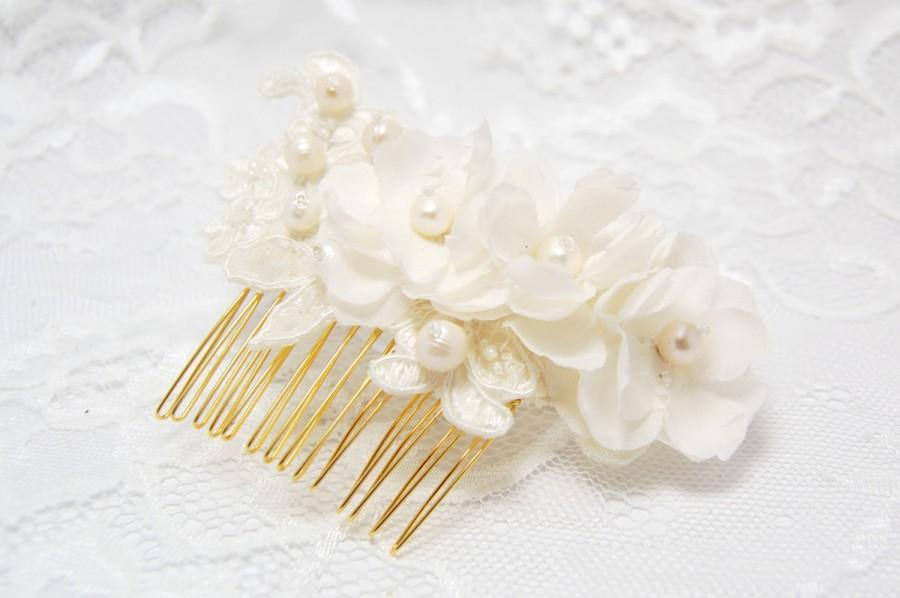 Hochzeit - Wedding hair comb, Bridal hair comb, Pearl hair comb, Bridal hair accessories, Ivory bridal comb., Bridal hair piece, Wedding headpiece