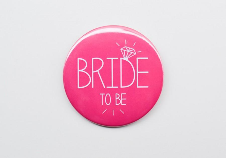Mariage - 1 x Bride to Be Badge - Hen Night / Hen Party / Bachelorette Badge