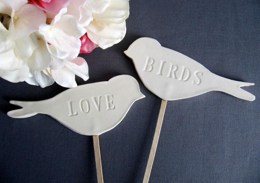 Hochzeit - Love Bird Wedding Cake Toppers